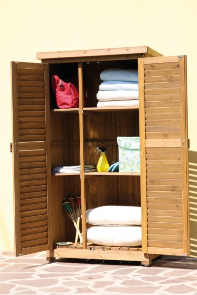 Armadio legno porta attrezzi mobile da esterno 53011 ebay - Mobile terrazzo legno ...