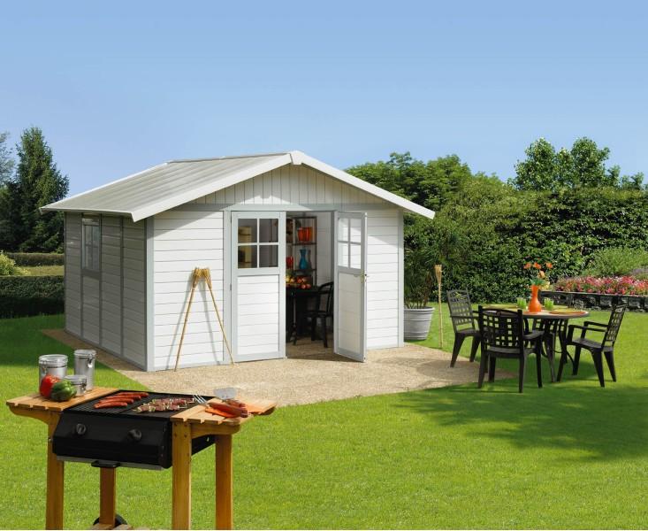 Grosfillex casetta in pvc 11mq per arredamento esterno for Raschella casa jardin