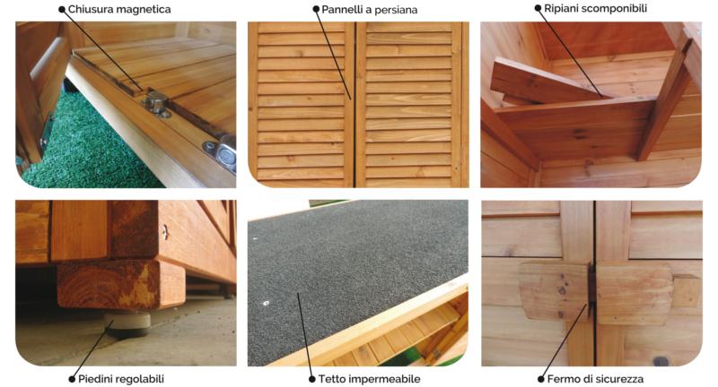 Armadio in legno da esterno 82x42x160 solido jarsya for Accessori da terrazzo