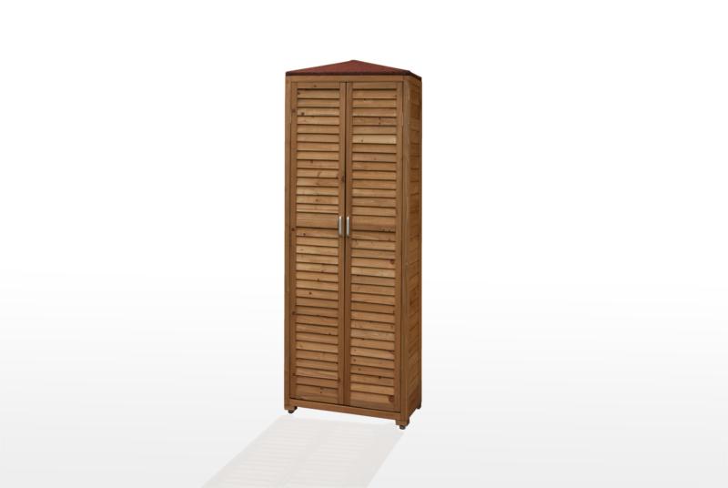 Armadio da esterno spilungo 186x40x70 cm porta oggetti in for Armadio per giardino