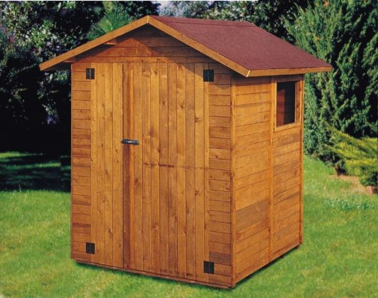 Casetta in legno 19 mm resistente per esterno 160x164 for Arredo esterno in legno