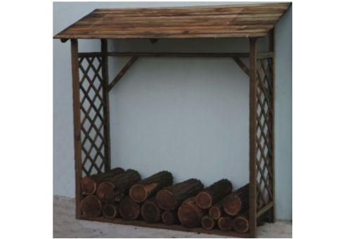 Legnaia 180x66x177h cm in legno porta legna per giardino for Porta legna da esterno