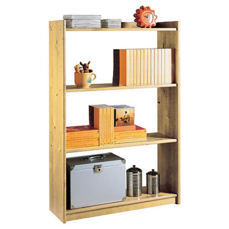 Libreria classica in legno grezzo 4 ripiani da 80 cm for Arredamento legno grezzo
