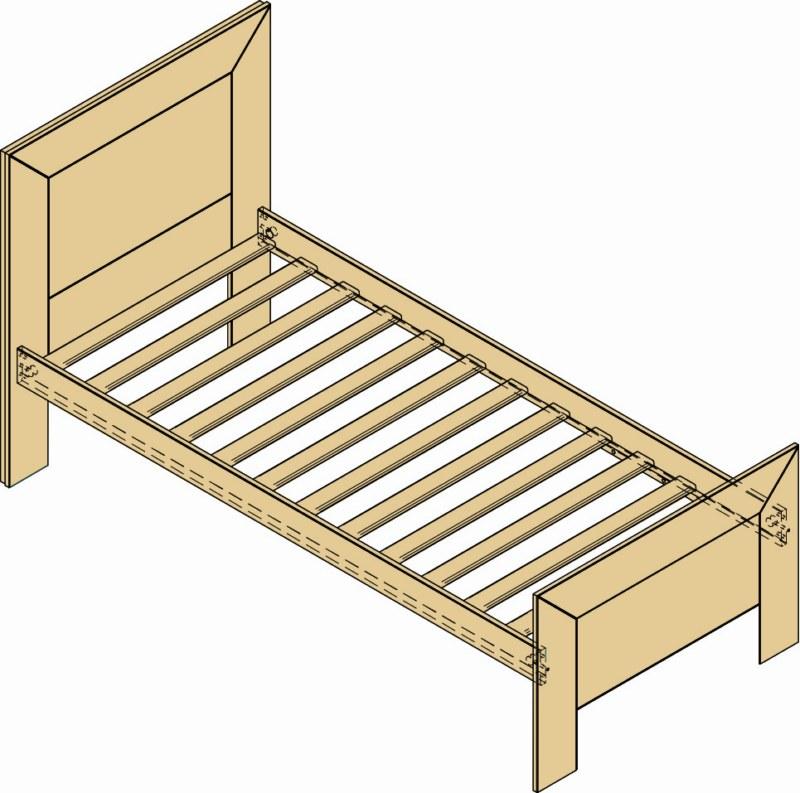 Letto singolo in legno grezzo per arredamento casa interni for Arredamento legno grezzo