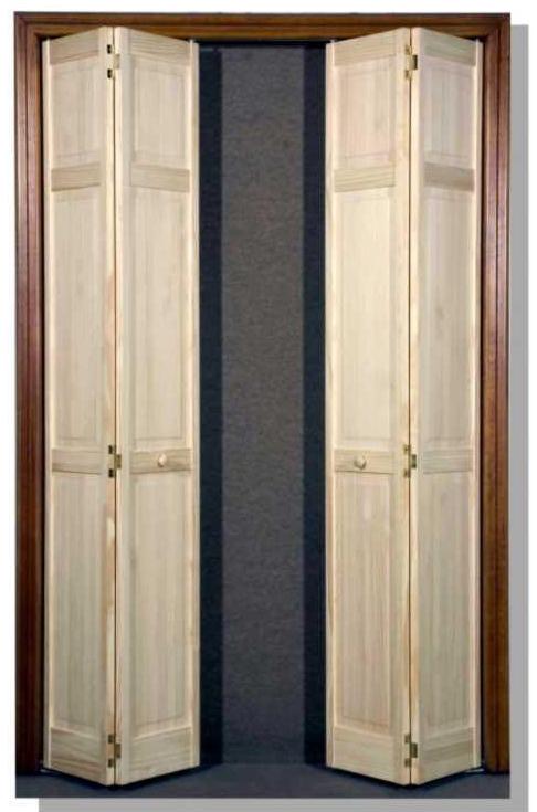 Doppia anta a soffietto per cabina armadio 61 0x203 2 - Porta a soffietto leroy merlin ...