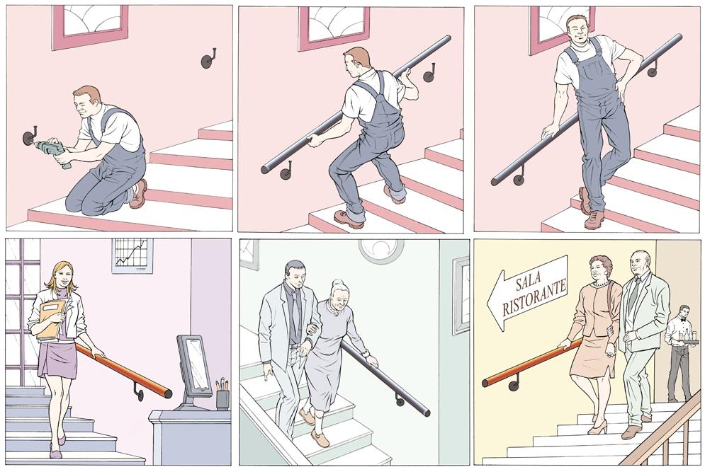 Corrimano per scale - Tutte le offerte : Cascare a Fagiolo