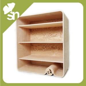 Libreria in legno design con schienale e mensole per - Mensole per camera bambini ...
