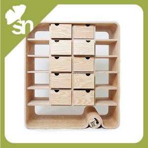 Cassettiera in legno frassino design con mensole 10 - Mensole per camera bambini ...