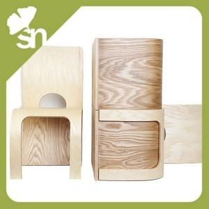 Sgabello in legno design per bambini componibile con for Tavolino e sedia montessori