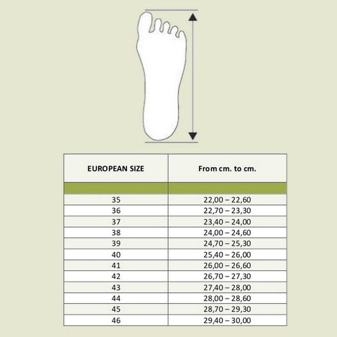 misure piede