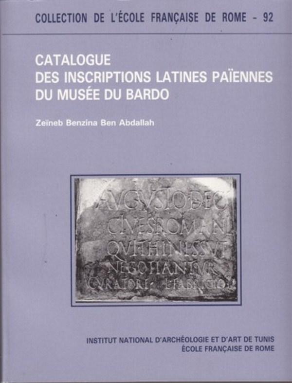 69718 - CATALOGUE DES INSCRIPTIONS LATINES PAIENNES  F9