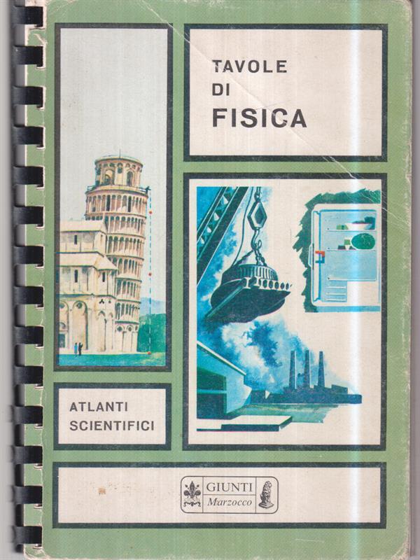 TAVOLE DI FISICA  \ GIUNTI MARZOCCO 1968 ATLANTI SCIENTIFICI