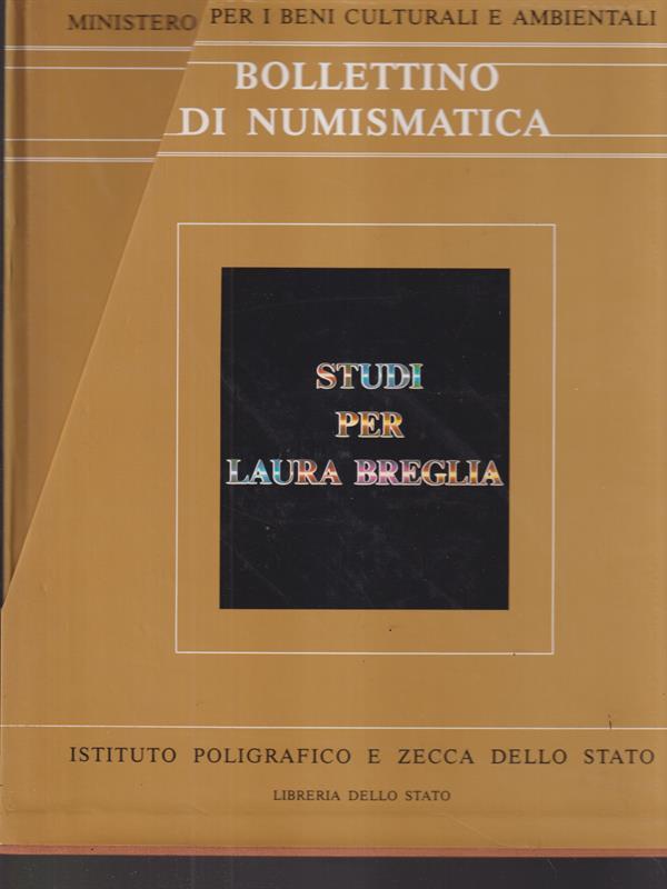 BOLLETTINO DI NUMISMATICA. SUPPLEMENTO AL N. 4 - 1987 3 VOLL.  AA.VV.